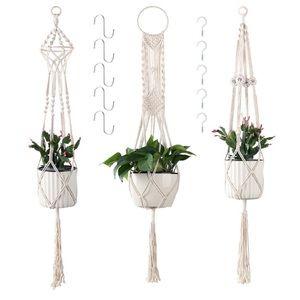 3 Pcs Hanging Plant Holders, Macrame Hangers